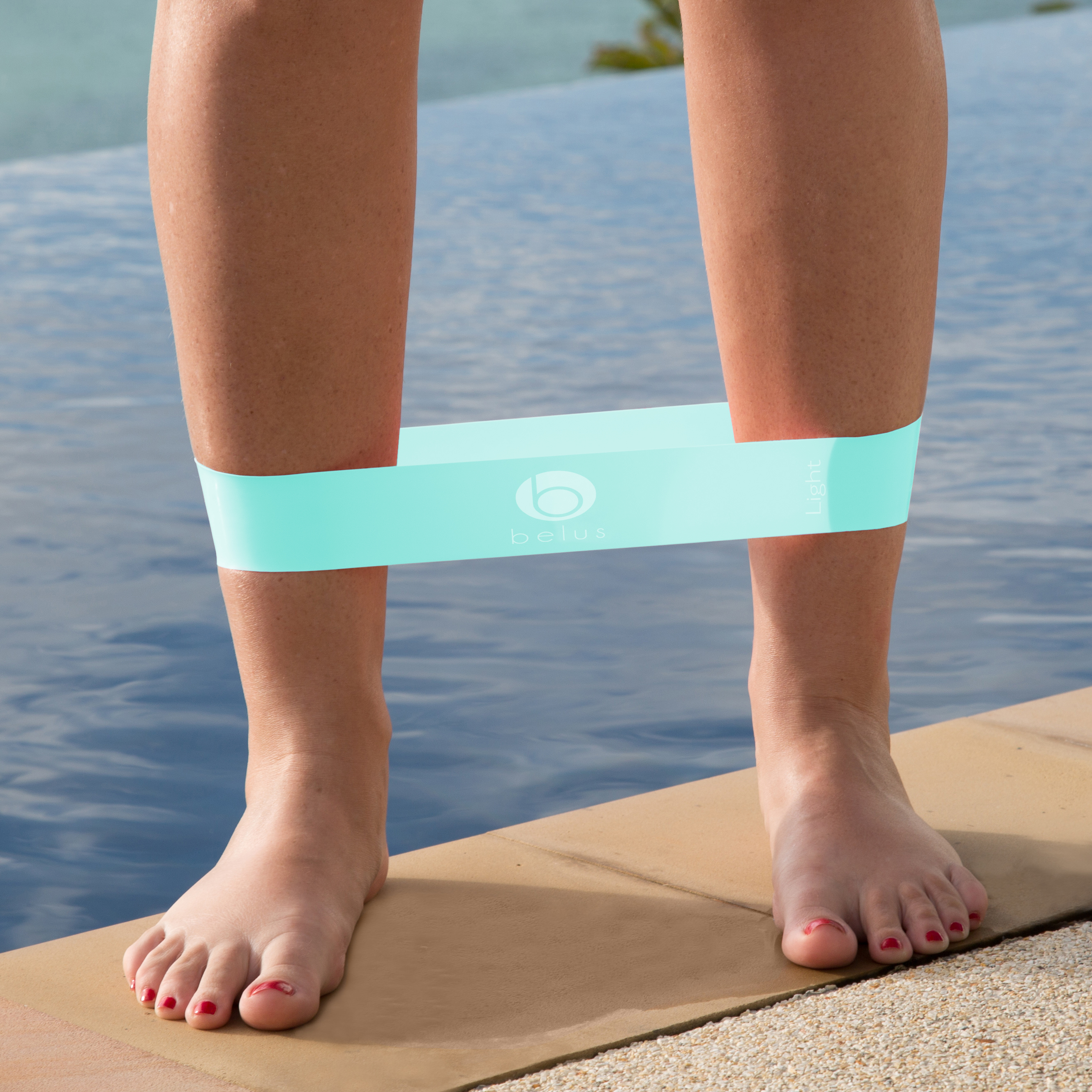 resistance loop band light blue
