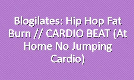 Blogilates: Hip Hop Fat Burn // CARDIO BEAT (At Home No Jumping Cardio)