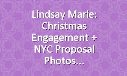 Lindsay Marie: Christmas Engagement + NYC Proposal Photos