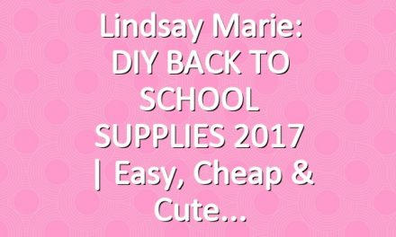 Lindsay Marie: DIY BACK TO SCHOOL SUPPLIES 2017 | Easy, Cheap & Cute