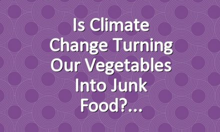 Is Climate Change Turning Our Vegetables into Junk Food?