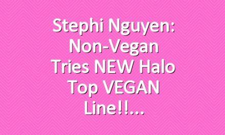 Stephi Nguyen: Non-Vegan Tries NEW Halo Top VEGAN Line!!