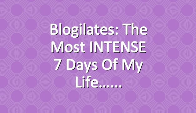 Blogilates: The most INTENSE 7 days of my life…
